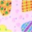 Szív mintás sminktáska különböző színkombinációban 1 db.