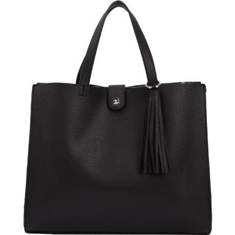 Diana bőrhatású rojtos táska fekete