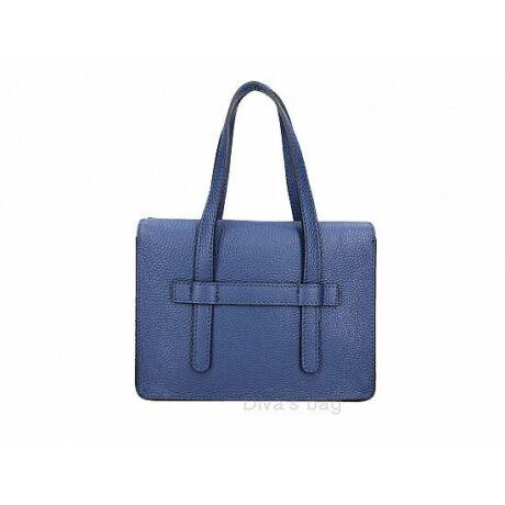 Valódi bőr üzleti táska kék színben