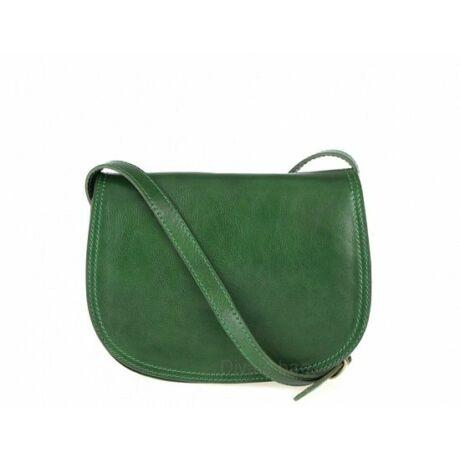Zöld többrekeszes merev kistáska bőrből -70's