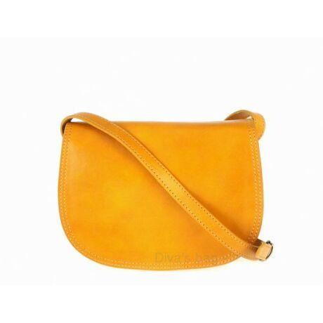 Sárga többrekeszes merev kistáska bőrből -70's