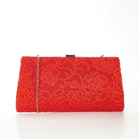 FAYE csipke fedésű alkalmi táska piros