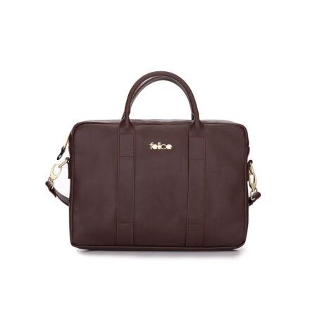 FELICE GOLD elegáns női bőr laptop táska vörös