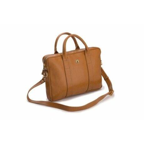 FELICE GOLD elegáns női bőr laptop táska camel