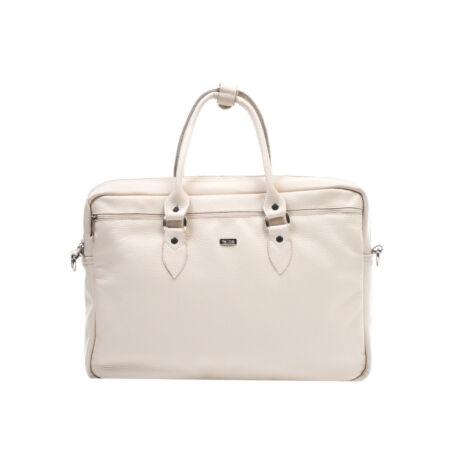 FELICE GOLD elegáns női bőr laptop táska krémszín