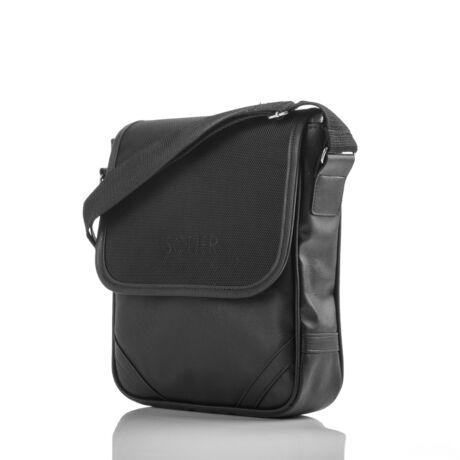 SOLIER Ipad tartó crossbody táska fekete