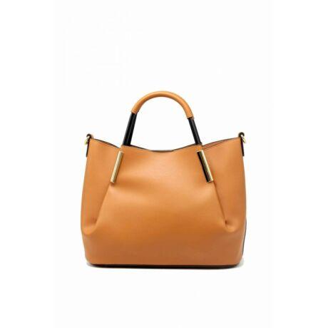 Bőrhatású barna női táska   Tom & Eva