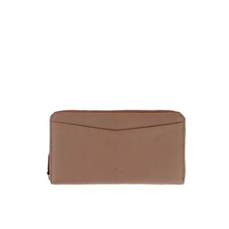 Valódi bőr taupe pénztárca  Tom & Eva