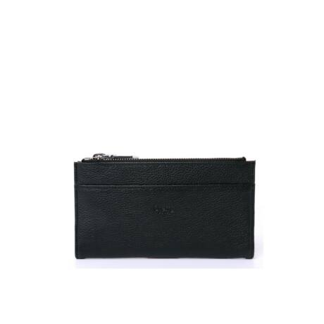 Valódi bőr fekete pénztárca  Tom & Eva