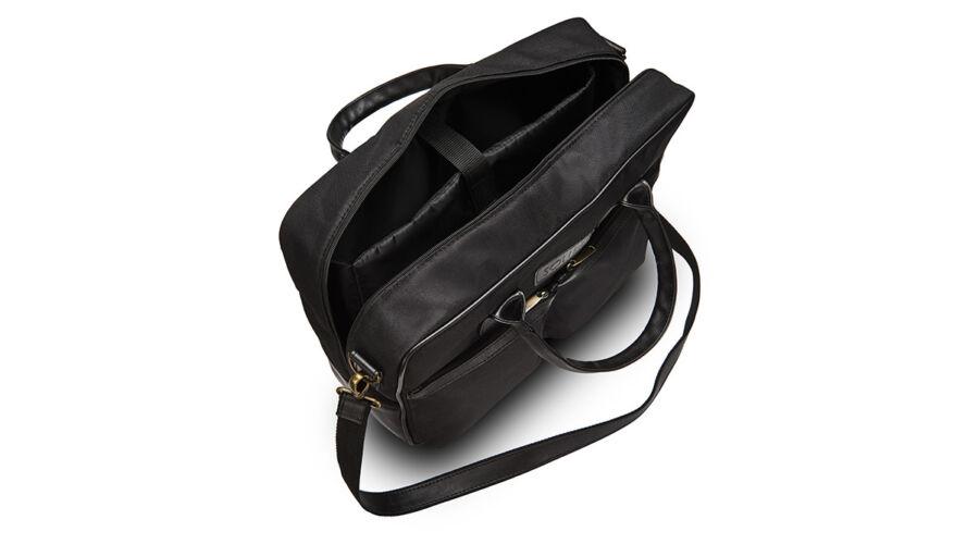 SOLIER fekete ECO-bőr laptop táska ffd8e5c7ea