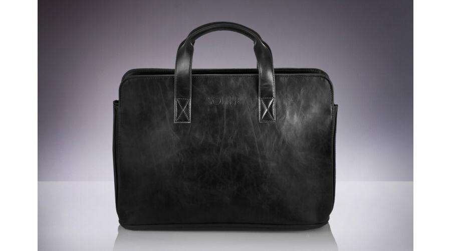 SOLIER fekete eco-bőr aktatáska - TáskaTár - a divatos női táska és ... 57e48d8e69