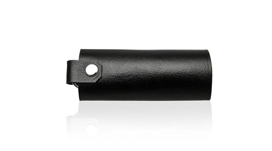 SOLIER fekete valódi bőr elegáns kulcstartó 81909eab4f