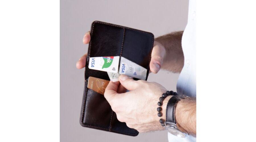 SOLIER fekete valódi bőr vékony pénztárca 1da734e57d