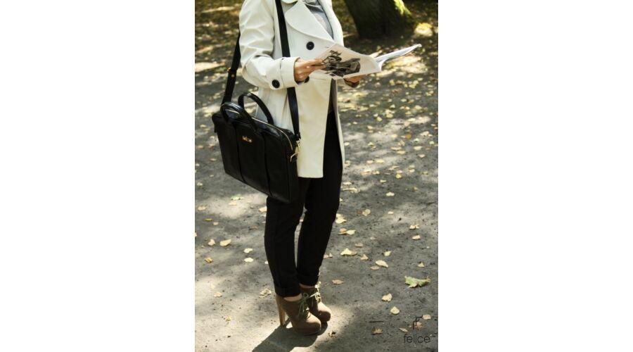 FELICE GOLD elegáns női bőr laptop táska abd7e52da1