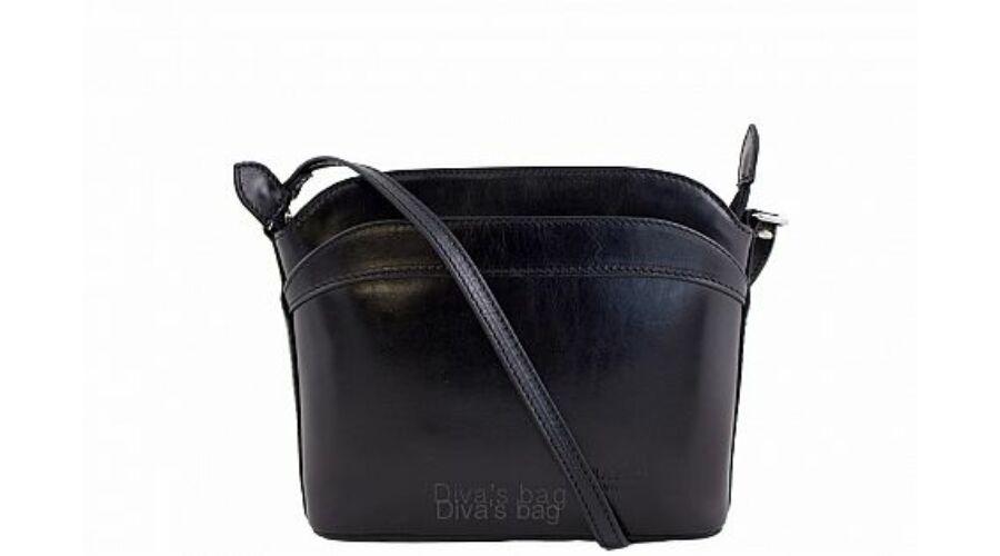 BARBARA fekete valódi bőr oldaltáska - TáskaTár - a divatos női ... 40f5622214