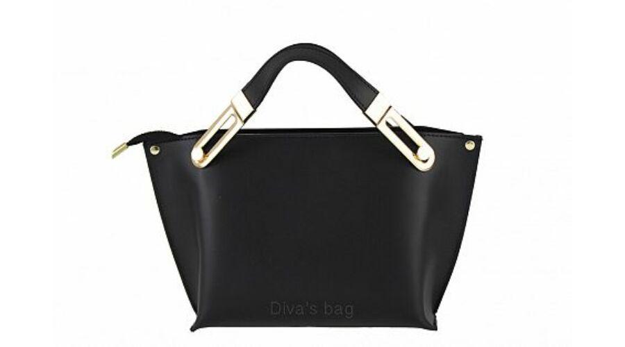 ILARIA fekete valódi bőr divattáska - Női bőrtáskák - TáskaTár - a ... d52d400c8c